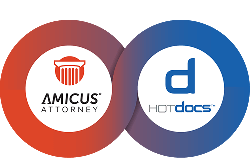 HotDocs automation + Amicus